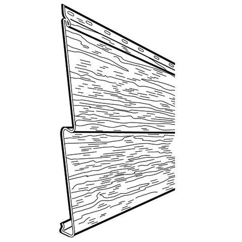 "Rollex Aurora Double 5"" Steel Non-Insulated Siding"