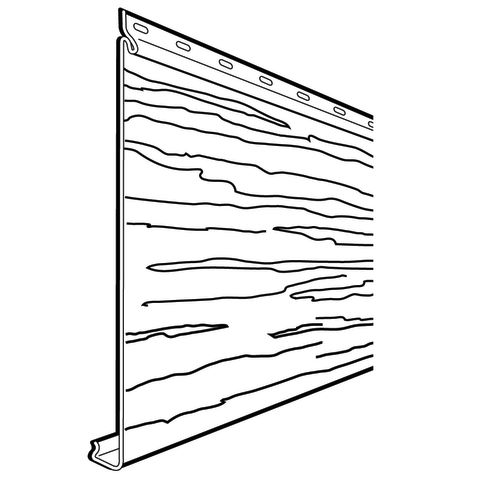 Rollex Aluminum Non-Insulated Siding - Woodgrain Finish