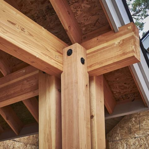 "Rosboro X-Beam Treated Glulam Column - 5-1/2"" x 5-1/2"""