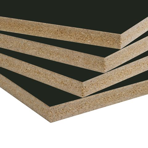 Duramine Black (006) Thermally Fused Laminate Panels - Particleboard Core G1S