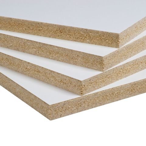 R White (291) Melamine - Western Particleboard Core with Resin Starved Backer