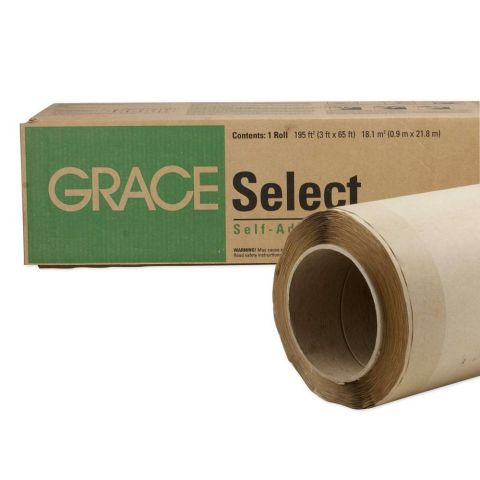 Select Self-Adhered Roofing Underlayment - 3' x 65' Roll