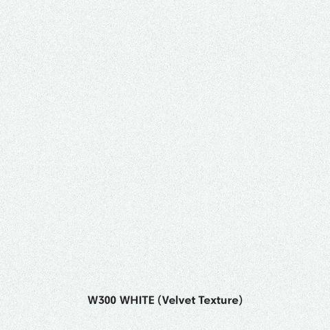 "Prism White (W300) TFL - P/B Core G2S Velvet 3/4"" 49x97"