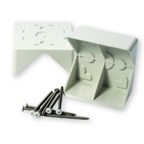Select 45 Degree Bracket Adapter Kit for White Rails with White Square Balusters