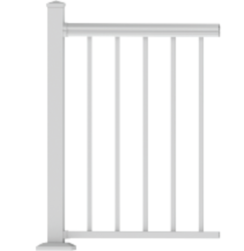 "RDI AVALON Level Railing Panel With Square Balusters - 36"" Rail Height"