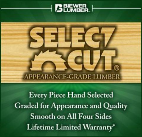 Biewer Select Cut 5/4 x 6 Treated Deck Boards - Ground Contact