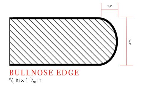 IdealEdge Bianco Antico 6001 Bullnose Profile