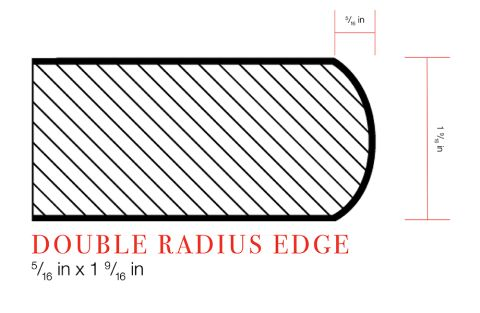 IdealEdge® Argento Romano 6697 Double Radius Profile
