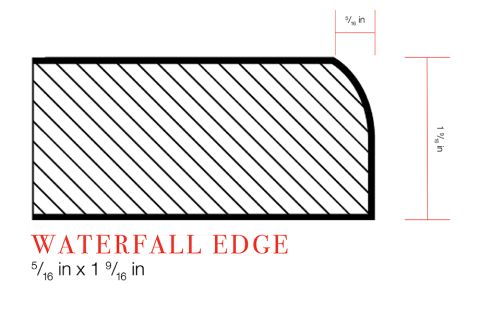 IdealEdge® Argento Romano 6697 Waterfall Profile