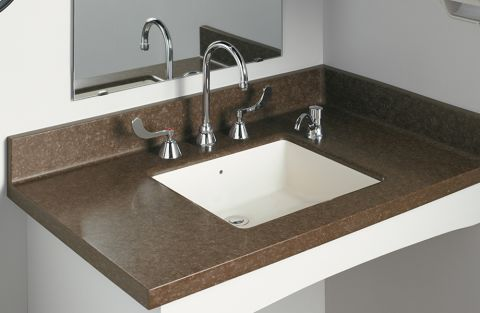 Formica Solid Surfacing L080 Undermount Regular Vanity Bowl with Back Overflow