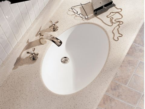 Formica Solid Surfacing V065 Acrylic Undermount Vanity Bowl - 18 in