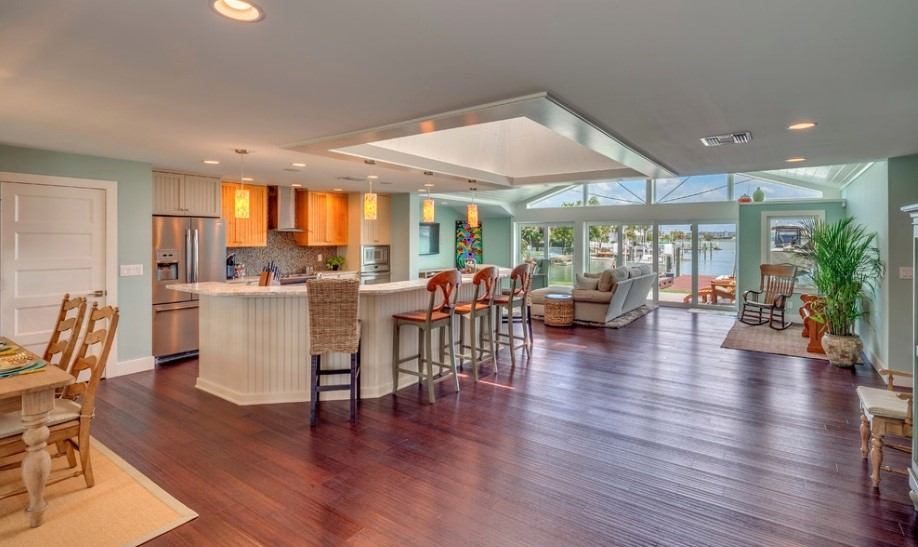 Remodeling a home for seniors may require designing a more open floor plan such as this one.