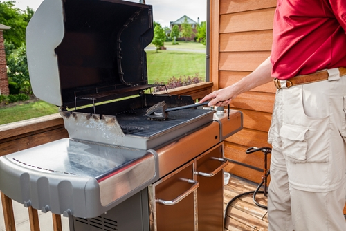 Composite decking materials can turn a simple deck into a grilling and entertaining haven!