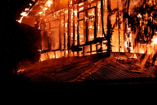 Flame retardant building materials can help minimize damage in house fires.