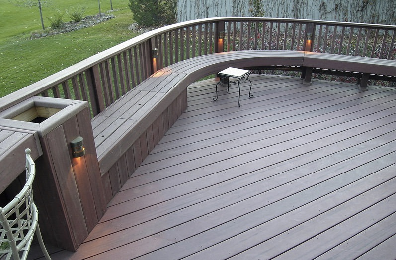 trex curved decking railing