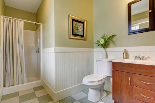 You should not let your client dismiss the the importance of bathroom lighting.