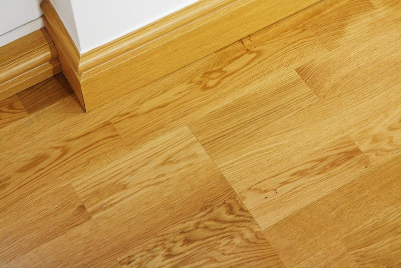 Laminate flooring resembles its hardwood counterpart.