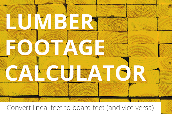 Lumber Footage Calculator