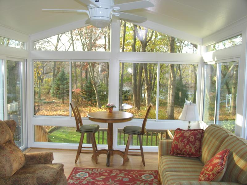 Adding a sunroom is a great way to beautify a home.