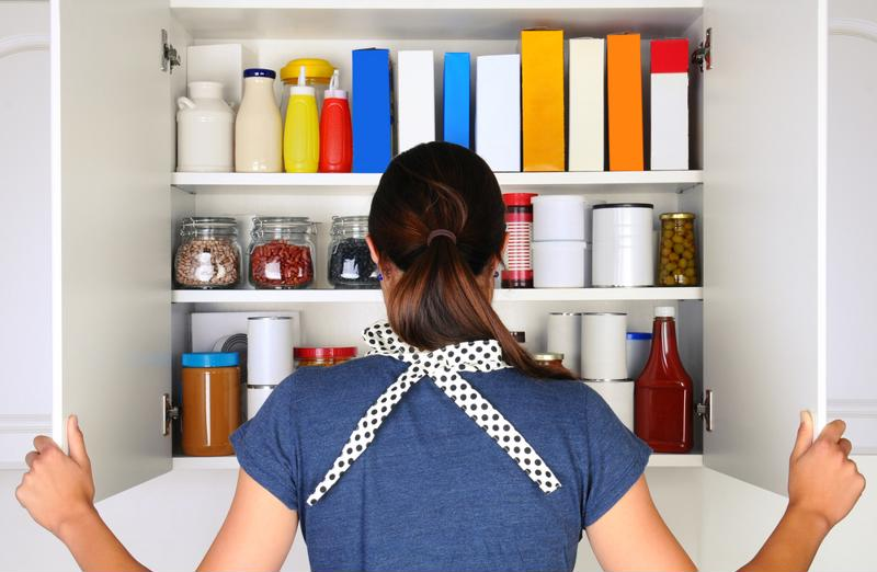A kitchen pantry allows more room to store non-perishable food and snacks.