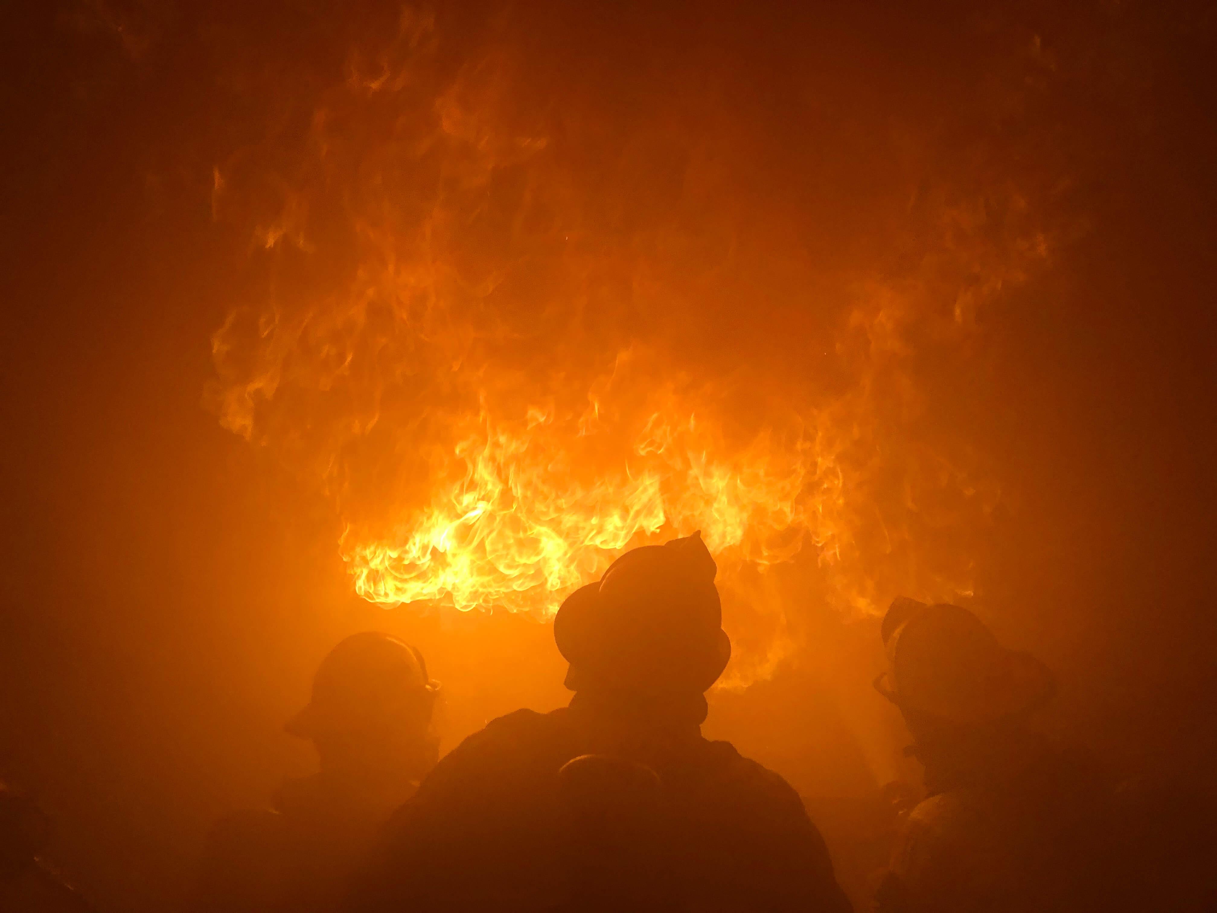 Firefighting class OSB live fire event