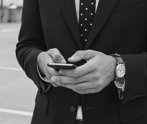 A man holding a mobile