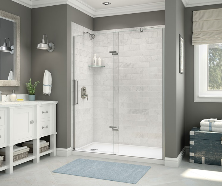 MAAX Utile Marble Carrara Wall Shower
