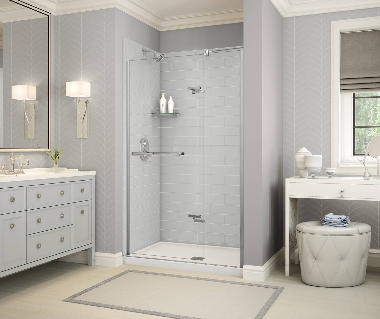 MAAX Utile Metro Soft Gray Alcove Shower