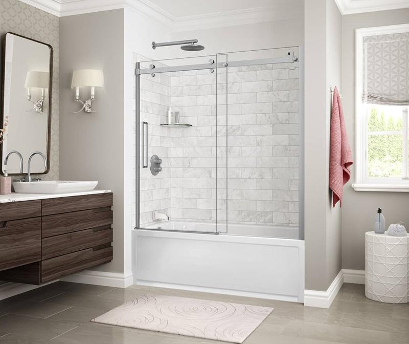 MAAX Marble Carrara Tub Shower