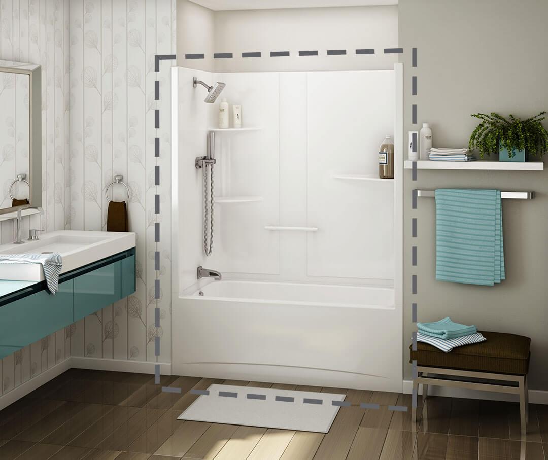 MAAX 1-Piece Tub Shower