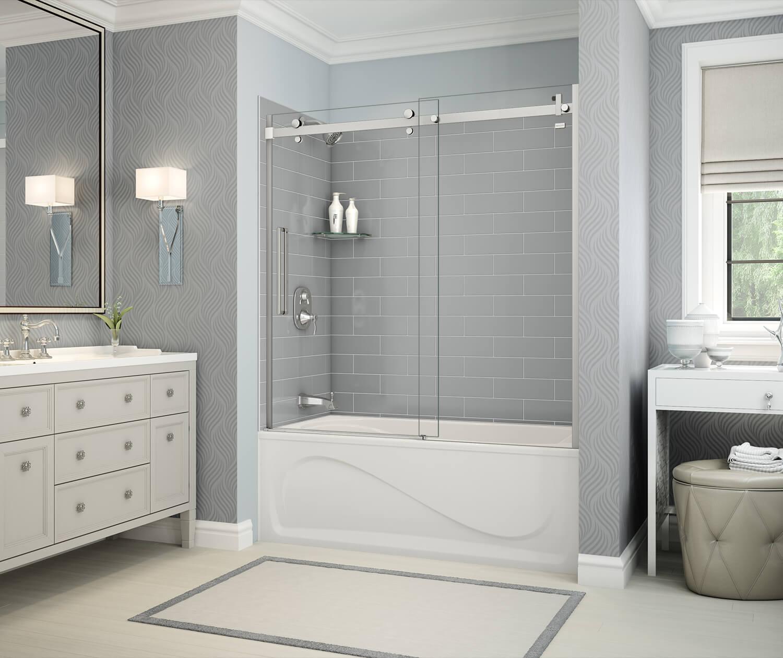 MAAX Utile Ash Gray Tub Shower