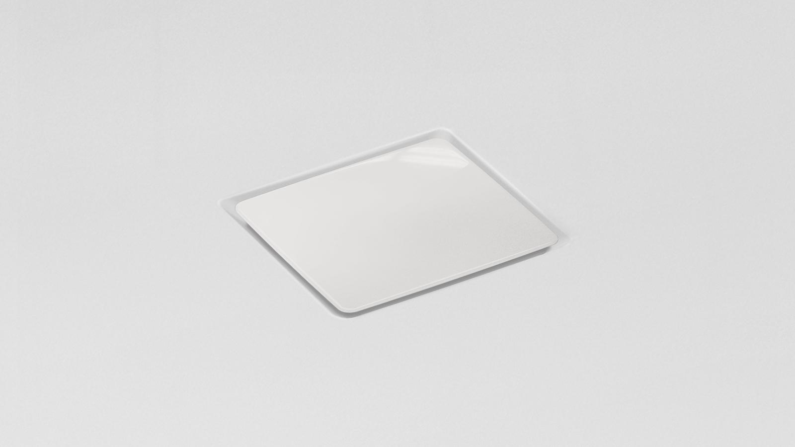White Solid Square Shower Drain