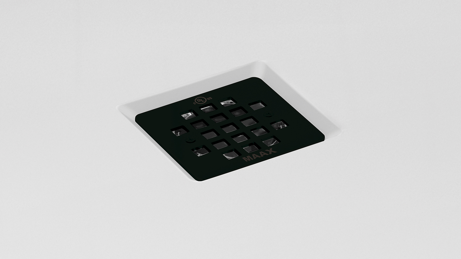 Black Grid Square Shower Drain