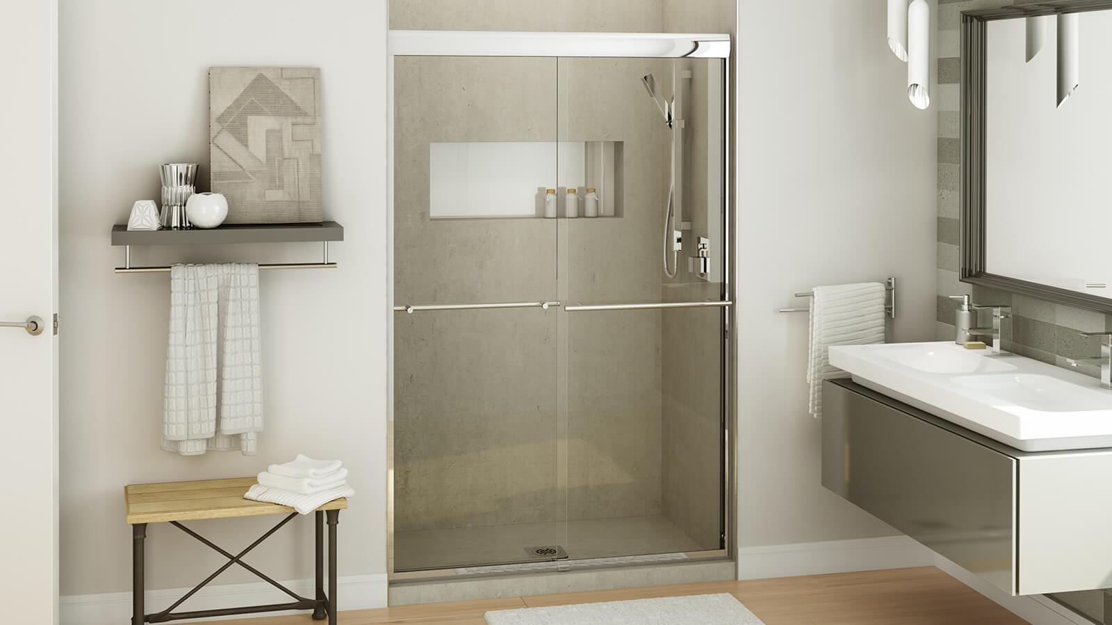 Kameleon shower door