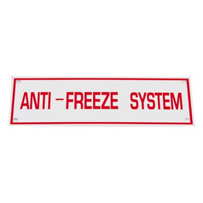 TYPE B ANTI-FREEZE SYST SIGN