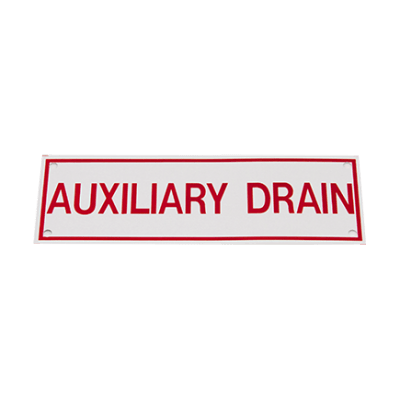 TYPE B AUXILLIARY DRAIN SIGN