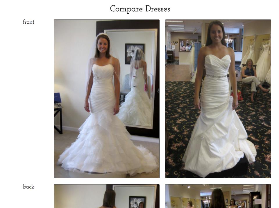compare dress photos