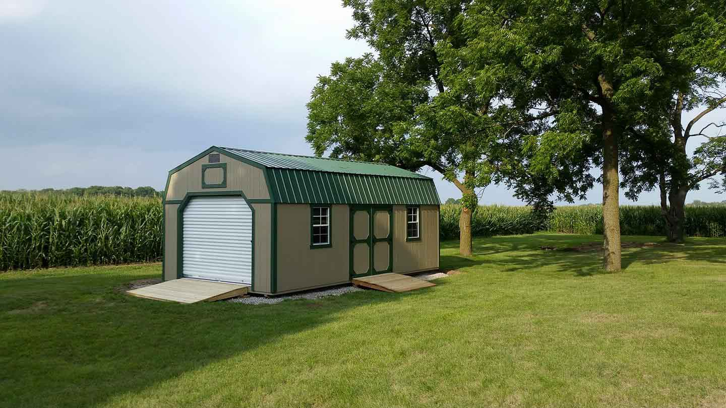 Lofted Storage Shed for Customer in Onsted Michigan