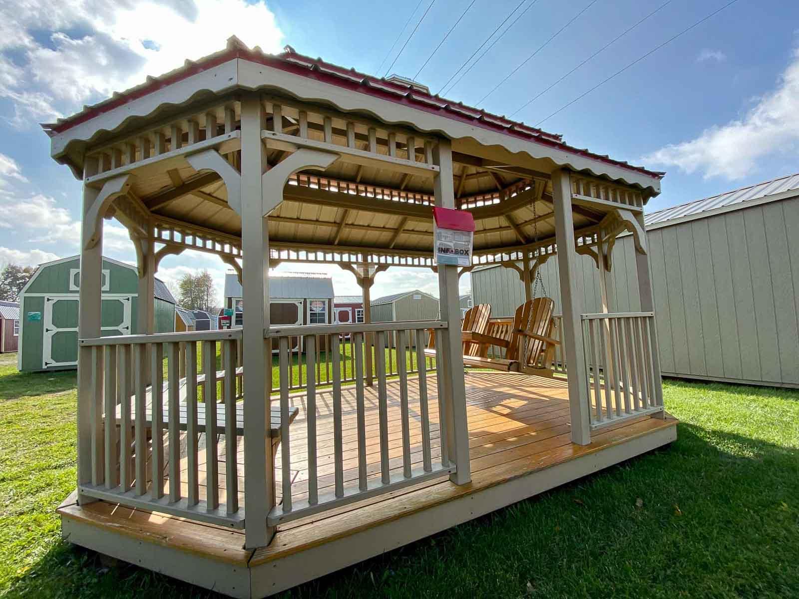 Amish Built Gazebo in Adrian Michigan
