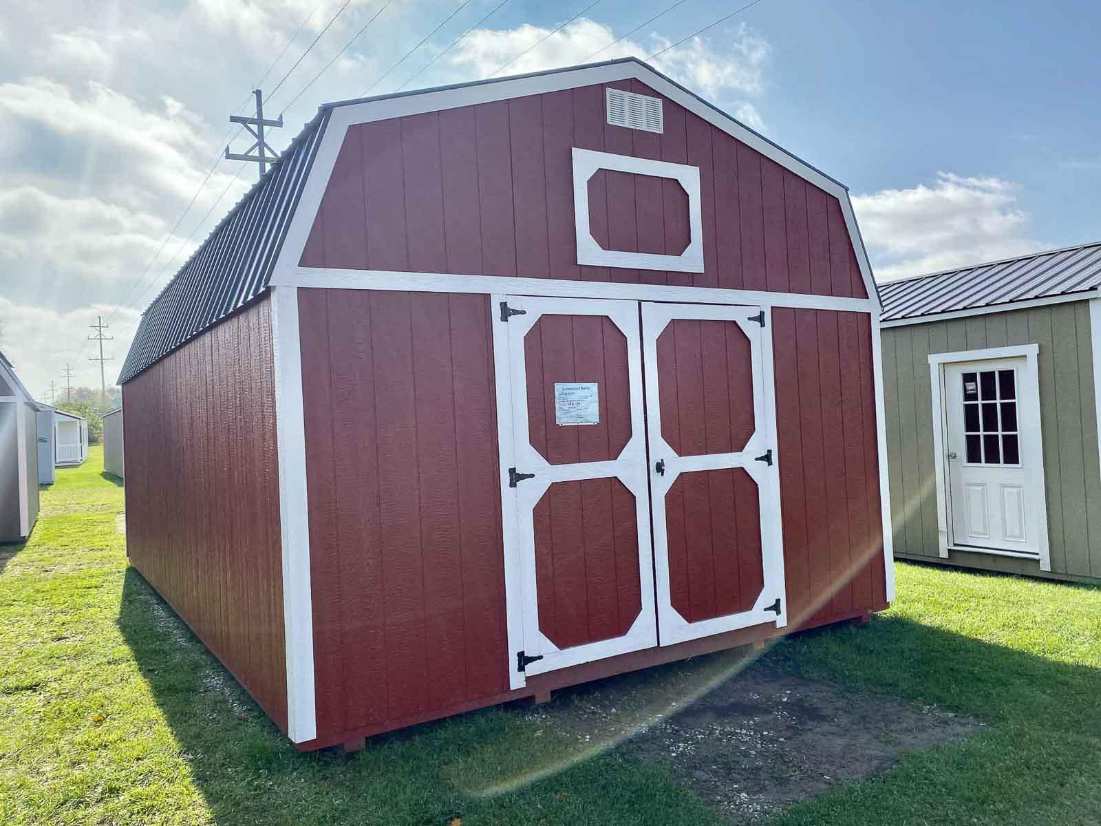 Amish Built Red Storage Barn in Adrian Michigan