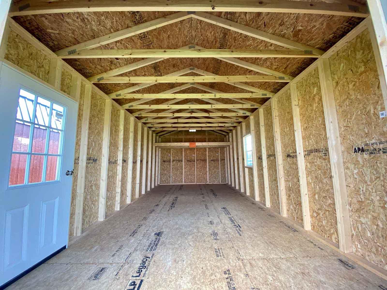 Interior of an Amish Built Garage