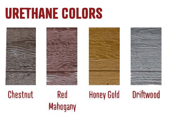 Wood Urethane Siding Colors at Amish Outdoor Buildings