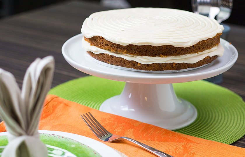 Amoretti Recipe: Carrot Cake with Maple Cream Cheese Frosting