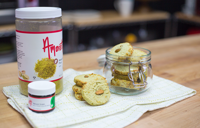 Amoretti Recipe: Pistachio Cream Cheese Cookies