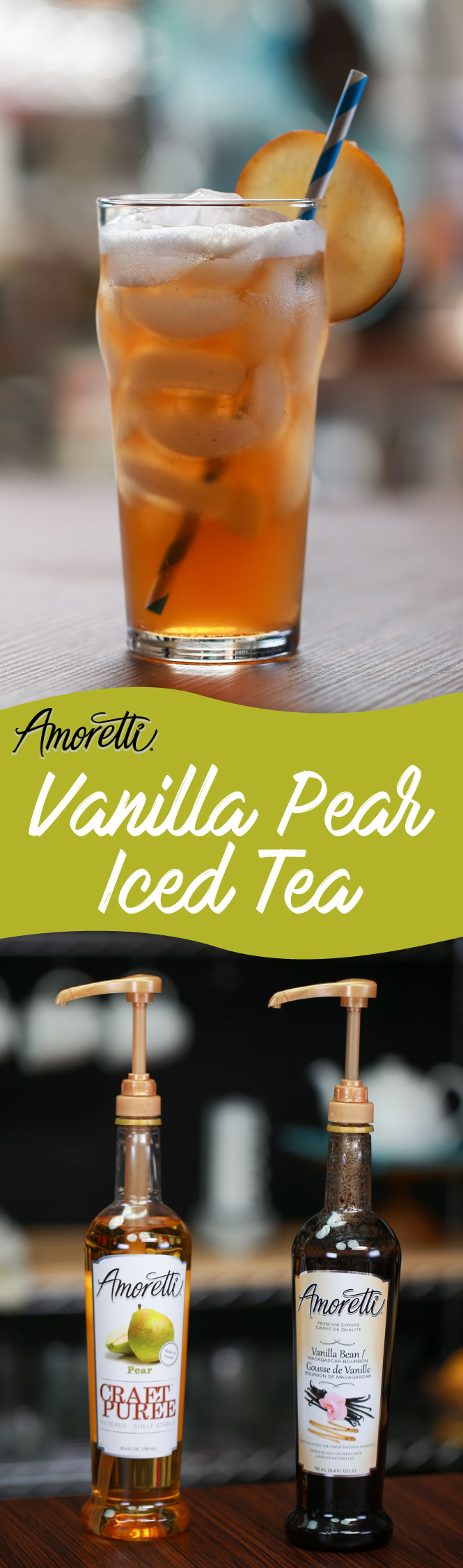 Time to sit back and enjoy the day with our Vanilla Pear Iced Tea!