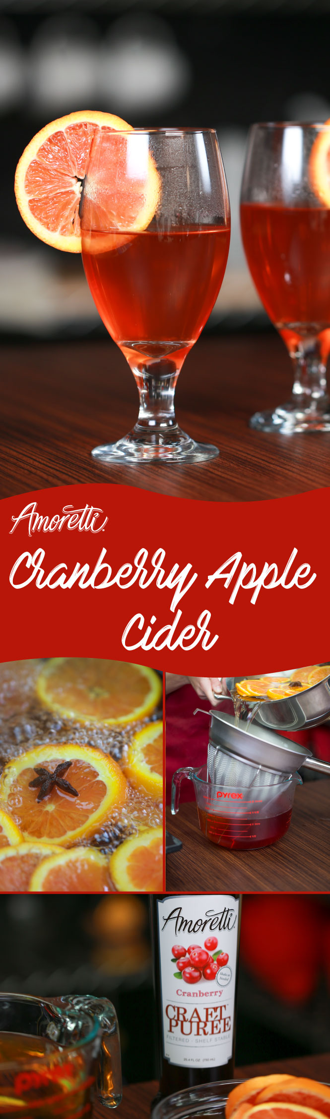 Warm up with our Cranberry Apple Cider!