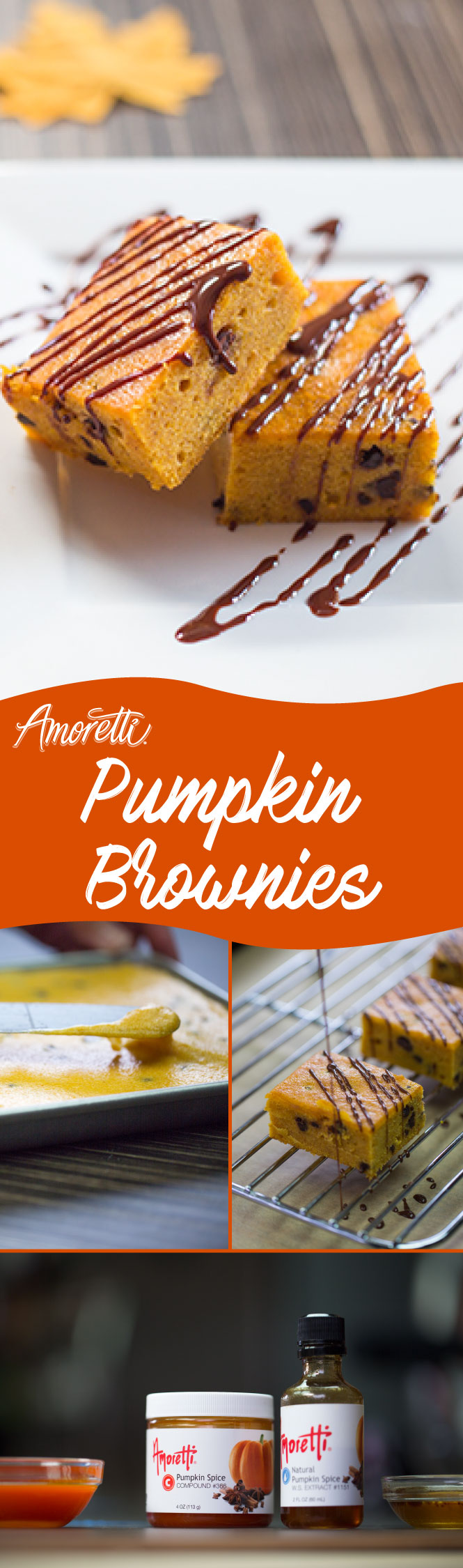 You can really taste the pumpkin flavor in these brownies!