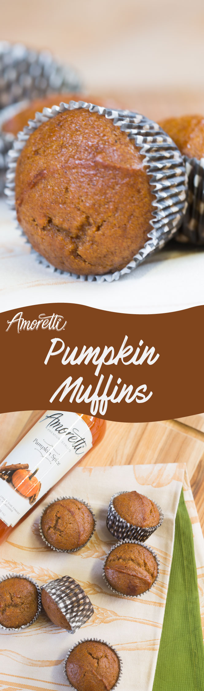 Delicious flavorable pumpkin muffins, easy recipe to follow!