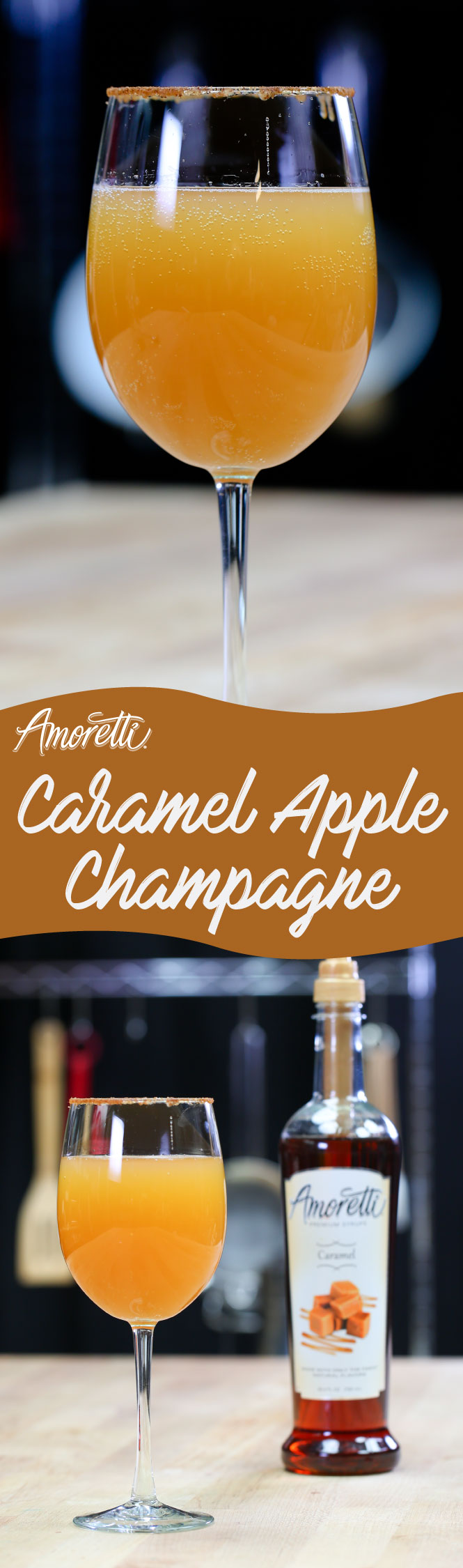 Love caramel apples? Try our twist with champagne for a true delight!