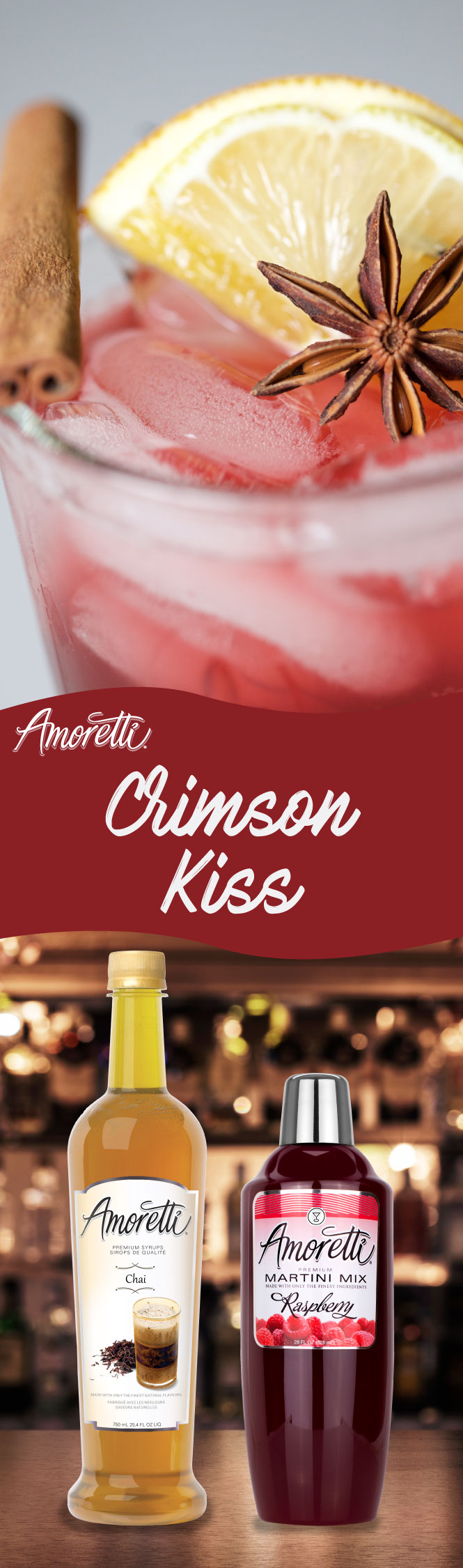 The kiss of flavor is what this drink is all about! Excellent combination of Chai and Raspberry!